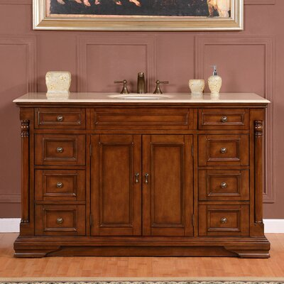 "58"" Single Sink Cabinet Bathroom Vanity Set Product Photo"