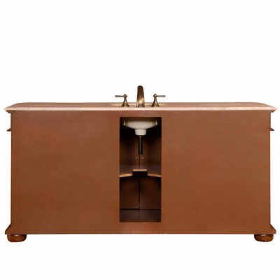 silkroad exclusive 72 single sink cabinet bathroom vanity set