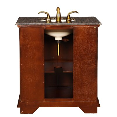 """Silkroad Exclusive Charlotte 33"""" Single Bathroom Vanity Set"""