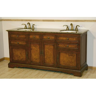 "York 72"" Double Bathroom Vanity Set Product Photo"