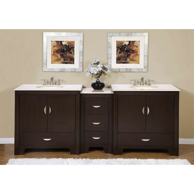 "Ilene 89"" Double Bathroom Vanity Set Product Photo"