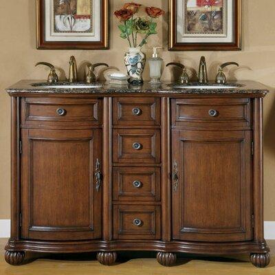 """Adela 52"""" Double Bathroom Vanity Set Product Photo"""