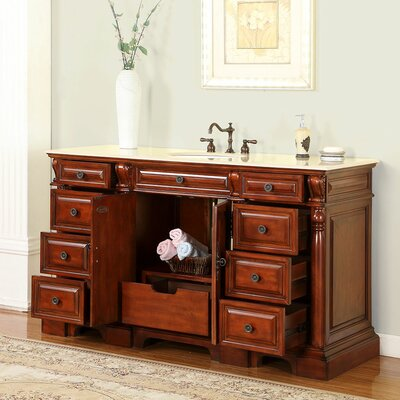"Cynthia 62"" Single Bathroom Vanity Set Product Photo"