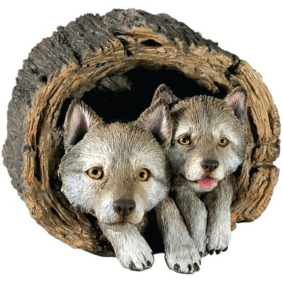 Forever Friends Wolf Pups Sculpture by Sandicast