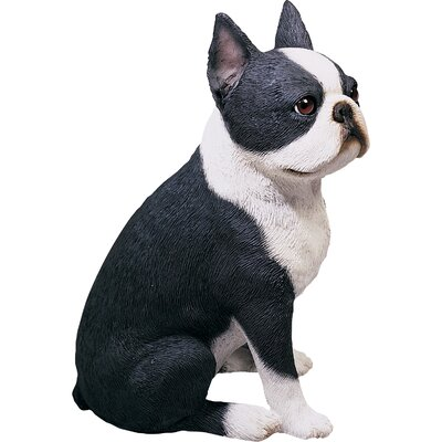 Sandicast Original Size Sculptures Boston Terrier Figurine