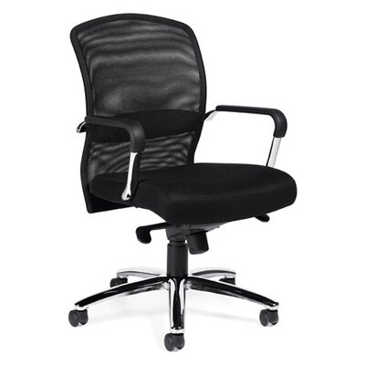 Offices To Go High-Back Mesh Tilter Conference Chair with Fixed Height Molded Arms