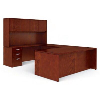 Offices To Go Ventnor U-Shape Executive Desk with Hutch