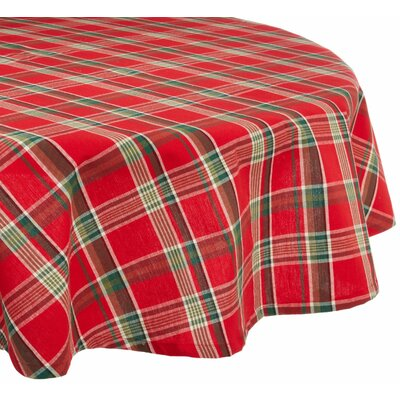 Tango Plaid Round Tablecloth by Design Imports