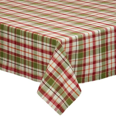 Pumpkin Patch Plaid Tablecloth