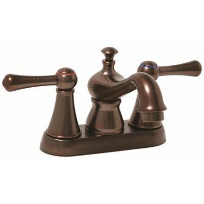 Double Handle Centerset Bathroom Faucet with Pop Up Drain by Premier Faucet