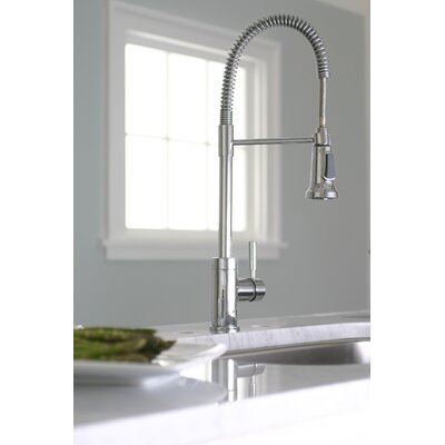 Essen One Handle Single Hole Pull-Down Bar Faucet Product Photo