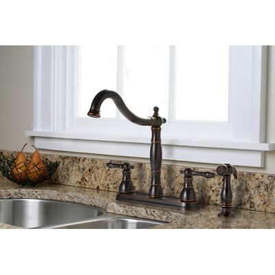 Charlestown Two Handle Kitchen Faucet with Matching Side Spray Product Photo