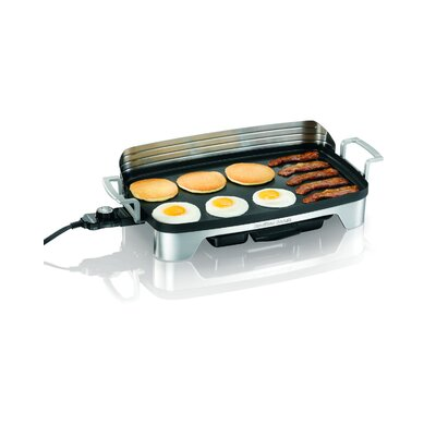Electric Griddle with Removable Backsplash by Hamilton Beach