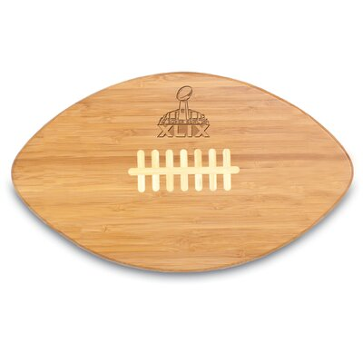 NFL Super Bowl 49 Natural Wood Touchdown Pro Cutting Board by Picnic Time