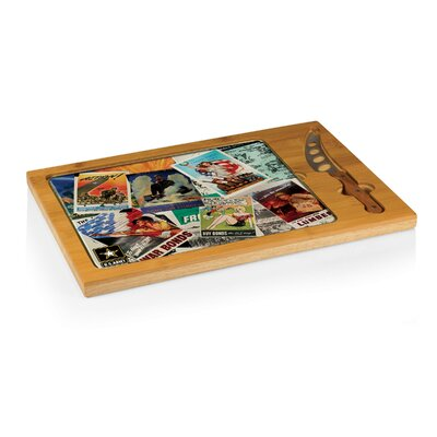 Army Icon Poster Collage Cutting Board by Picnic Time