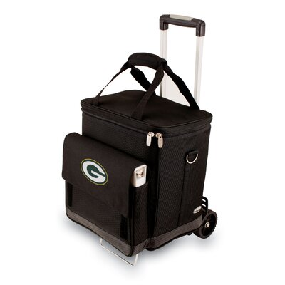 Picnic Time NFL Digital Print Cellar with Trolley in Black