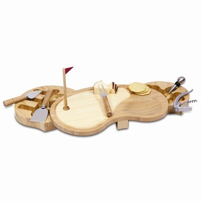 Picnic Time Sand Trap Cutting Cheese Tray