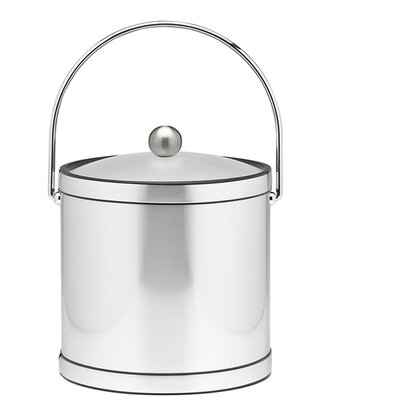 Kraftware Mylar 3 Qt Ice Bucket with Lucite Cover in Brushed Chrome