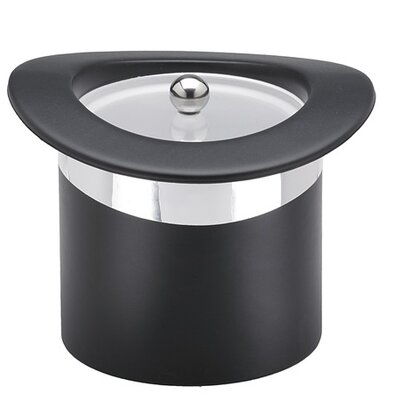 Kraftware Sophisticates Top Hats Ice Bucket with Chrome Band in Black