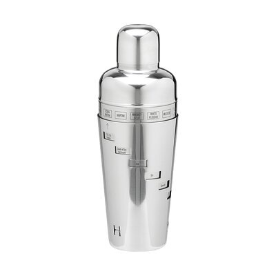 Stainless Steel 32 Oz. Recipe Cocktail Shaker by Kraftware