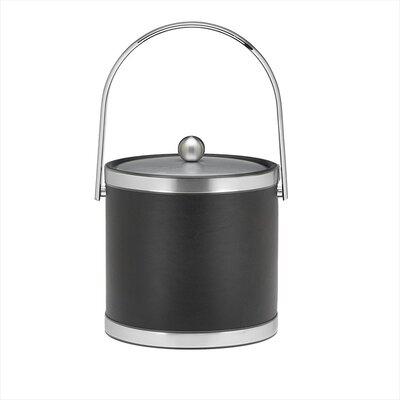 "Kraftware Sophisticates 9"" Ice Bucket with Track Handle"