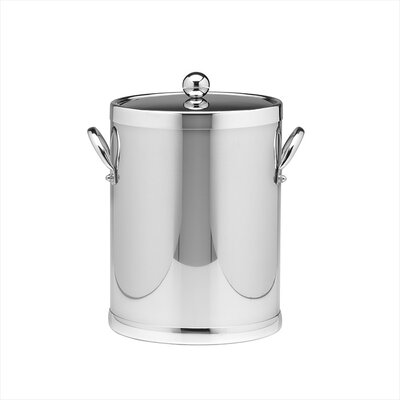 Kraftware Americano 5 Qt Ice Bucket with Side Handle in Polished Chrome
