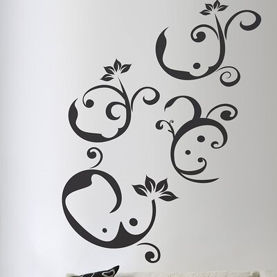 Euro Notes Flock Wall Decal by Brewster Home Fashions
