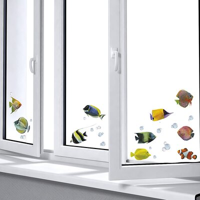 Euro Fishes Window Sticker by Brewster Home Fashions