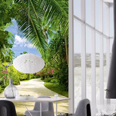 Ideal Decor Tropical Pathway Wall Mural by Brewster Home Fashions