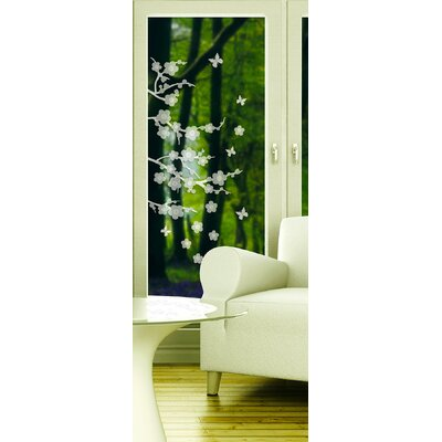 Window Decor Blossom Etched Window Sticker by Brewster Home Fashions