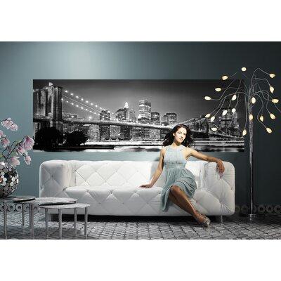 Brewster Home Fashions Komar Brooklyn Bridge Wall Mural