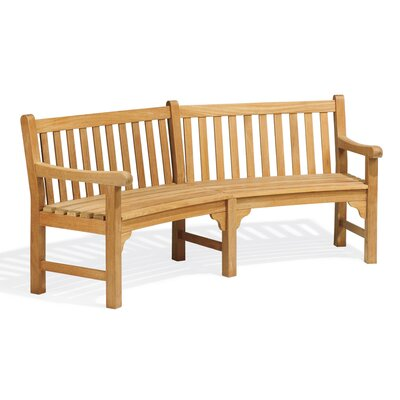 Oxford Garden Essex Curved Wood Garden Bench