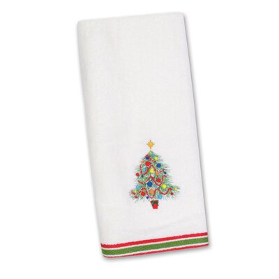 Christmas Tree Embroidered Kitchen Towel by Fiesta