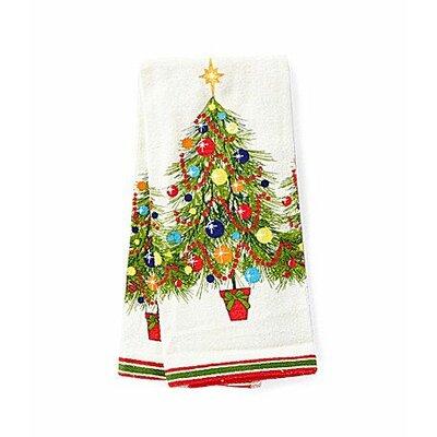 Christmas Tree Printed Kitchen Towel by Fiesta