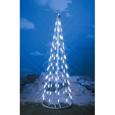 Solar Christmas Tree String Lights : Homebrite Solar String Light Cone Tree Christmas Decoration with White Lights & Reviews Wayfair