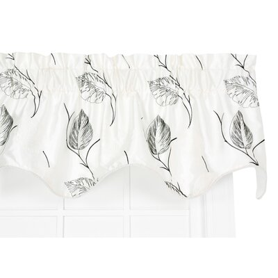 "Astonish Embroidered Leaf Lined Duchess Filler 50"" Curtain Valance Product Photo"