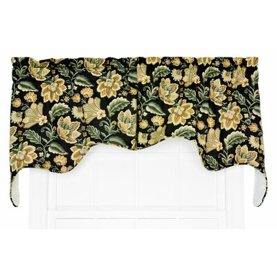 "Valerie 2 Piece Jacobean Empress Lined Swag 70"" Curtain Valance Set Product Photo"