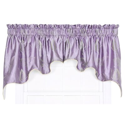 "Astonish 2 Piece Embroidered Leaf Lined Duchess 100"" Curtain Valance Set Product Photo"