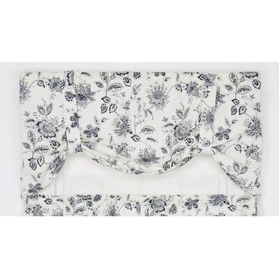"Winston Floral Print Tie-Up 60"" Curtain Valance Product Photo"