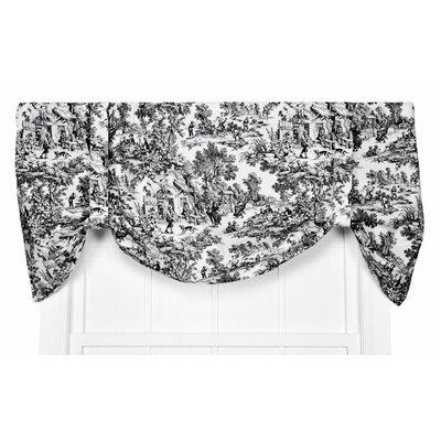 "Victoria Park 60"" Toile Tie-Up Valance Product Photo"