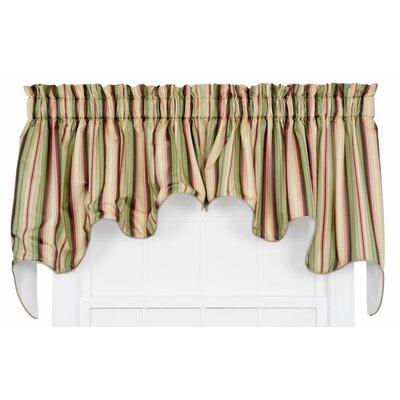 Mateo Medium Scale Stripe Print Lined Duchess Curtain Valance Product Photo