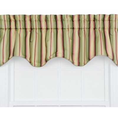 Mateo Medium Scale Stripe Print Lined Duchess Filler Curtain Valance Product Photo