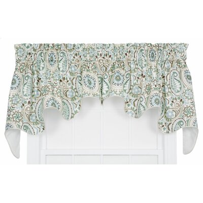 Paisley Prism Jacobean Floral Print Lined Duchess Curtain Valance Product Photo