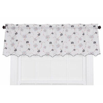 Zoe Crushed Taffeta Open Floral Print Curtain Valance Product Photo