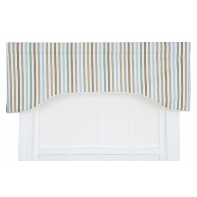 Line-Up Stripe Print Lined Arched Curtain Valance Product Photo