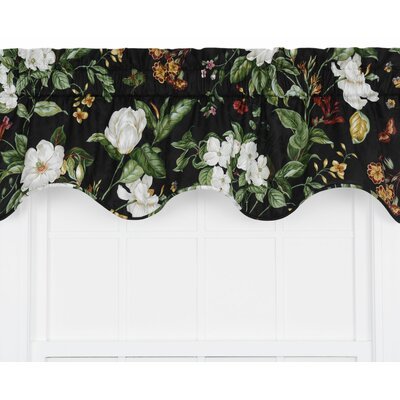 Garden Images Large Scale Floral Print Lined Duchess Filler Curtain Valance Product Photo