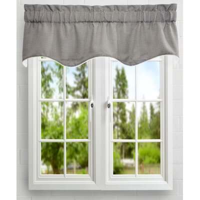 Landis Mini Check Textured Weave Duchess Filler Lined Curtain Valance Product Photo