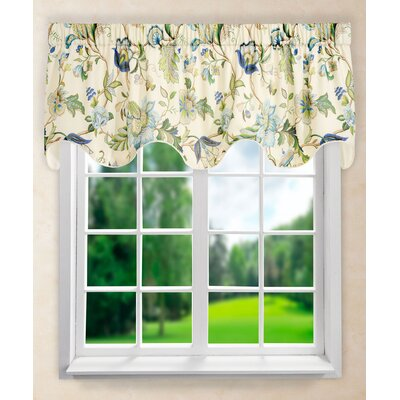 "Brissac 70"" Lined Scallop Curtain Valance Product Photo"
