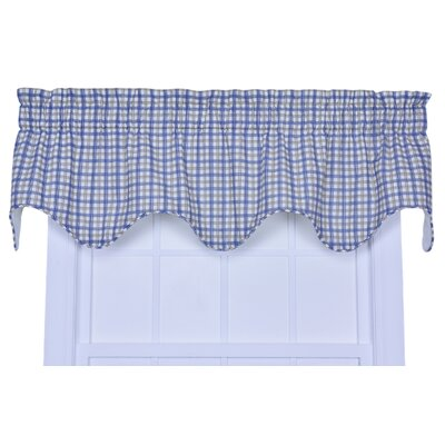"Bristol Plaid Lined 70"" Curtain Valance Product Photo"