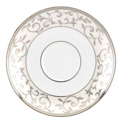 """Lenox Opal Innocence Silver 6"""" Tea Saucer"""